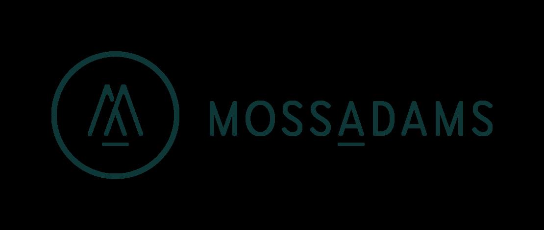 Moss Adams white green logo